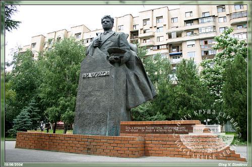 Памятник из гранита Краснослободск, Волгоградская обл. Эконом памятник Арка с резным профилем Щукинская